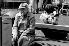 golden age (Stefano E) Tags: man uomo allaperto carpi emiliaromagna italia italy panchina bench onthebench peoplesitting biancoenero blackandwhite monochrome monocromo strada street candid oldpeople anziano vecchiaia goldenage candidstreet