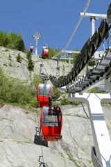 Gondolas (tucker.ralph) Tags: gondolas alps french glacier sky mountain rock landscape technology