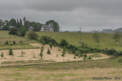 Rain in the valley     *Explored #96* (Stephan Neven) Tags: rain cloud valley house field tree grass belgium luxembourg