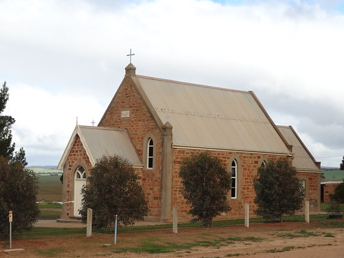 Peep Hill Lutheran Church. Built in 1890 with an attached cemetery. Used in the film The Water Diviner.