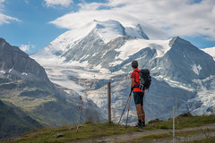 Man vs Mountain (Carles Alonso photo) Tags: climbing freedom nikon nature 85mm switzerland mountains outdoor matterhorn swiss snow clouds landscape trekking man sky wildlife mountaneering travel wallpaper photography hiking tour green light cliff cervino public