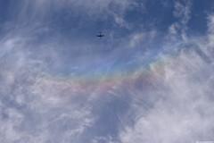 Plane approaching SunDog (_pkm_photography) Tags: pkmphotography2016 dslr nikon d3300 sundog