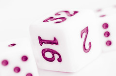 D is for Dice (Daniela 59) Tags: macro macromondays dice numbers highkey purple beginswiththefirstletterofmyname danielaruppel