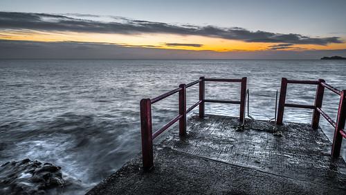 View on the sunrise - Dublin, Ireland - Seascape photography