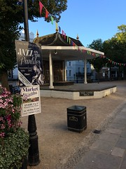 Bandstand (My photos live here) Tags: bandstand jazz on the pantiles sign lamp post light bunting royal tunbridge wells kent town urban historic i phine 5s england