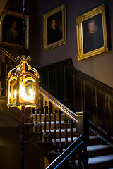 At Cadogan Gardens (romanboed) Tags: stilllife interior chandelier paintings chair hallway leica m 240 summilux 50 uk england london chelsea 11 cadogan gardens hotel slh small luxury hotels available light staircase stairs stairway lantern steps
