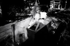 barbie girl (Zlatko Vickovic) Tags: streetphotography street zlatkovickovicphotography zlatkovickovic dark novisad vojvodina serbia srbija lightandshadow noir streetbw streetphotographybw blackandwhite surreal monochrome