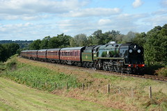 34027 Foley Park 22/09/2016 (Brad Joyce 37) Tags: 34027 severnvalleyrailway svr tawvalley foleypark steam train locomotive sunshine green preservation passenger countryside england