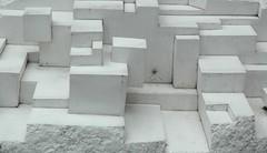 A Real Work of Art (jcbkk1956) Tags: art concrete sukhumvitroad bangkok thailand street nikon d70s nikkor 1870mmf3545 white blocks cubes abstract
