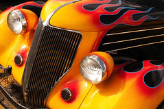 Hot Rod Flames (Guy dicarlo) Tags: car rod hot flames paint custom street muscle show auto classic flame vintage automobile yellow color antique retro transportation vehicle hotrod flaming cars background speed chrome restored streetrod graphic rods artwork customized fast american detail colorful orange vivid nostalgia fire hood cruise grill intense design graphics