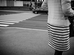 Lines and lines (SibretManu) Tags: streetphotography portrait street black white bw candid going moments decisive moment creative commons flickr flickriver explore eyed eye scene strassenfotografie fotografie city square squareformat photography