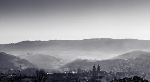 Brouillard sur Espalion