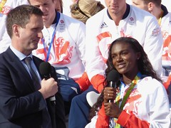 Lord Holmes with Dina Asher-Smith (Suede Bicycle) Tags: olympics rio rioolympics rio2016 olympicgames heroeswelcome trafalgarsquare summerolympics olympicparade paralympics rioparalympics