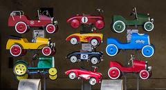Uzes toys_speelgoed (Leen Poldervaart) Tags: frankrijk gard speelgoed toys trapauto vakantie canon600d canonef70200mmf4lisusm uzes kleuren colors placeauxherbes languedocroussillon