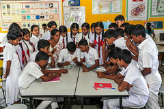 Education in Sri Lanka (Asian Development Bank) Tags: school friends people students youth experiments education locals lka classmates teenagers teens science tools trainers equipment southern study instructors laboratory labs srilanka professors teachers microscope scholars citizens peers lessons schoolmates classrooms classes educators hakmanagalle