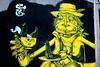 Yellow Man (Benn Gunn Baker) Tags: man yellow canon bristol graffiti baker tea croft gloucester stokes rd benn gunn 550d sepr t2i