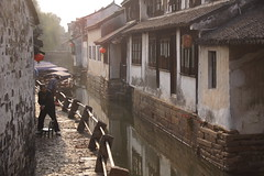 Zhouzhuang Daily Life (Side Street) (Sergei P. Zubkov) Tags: china november 中国 zhouzhuang 2012 周庄镇