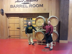 2014-11-20 18.19.25 (Pak T) Tags: dan beer boston massachusetts samsung brewery nate openhouse samadams samueladams jamaicaplain barrelroom samsunggalaxys2 samsunggalaxysii