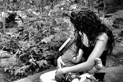 Milk from Mother Nature (dreamstate.images) Tags: summer bw woman baby nature canon mom outdoors milk infant child natural feeding mommy mother son parent feed breastfeeding nurture motherhood nursing breastfeed breastfed