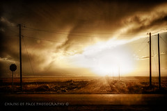 And the Heavens..... (Chains of Pace) Tags: road storm oklahoma clouds rural landscape unitedstates oldwest guymon
