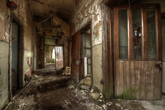 Broken (Sshhhh...) Tags: green broken decay debris corridor peel mould asylum damp sshhhh