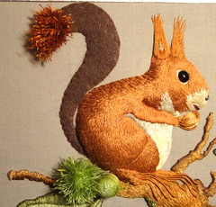squirrel_19 (www.miriam-blaylock.com) Tags: embroidery stitches stitching stich stumpwork threadpainting needlepainting longandshortstitch embroideredsquirrel christianeparis
