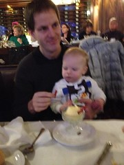 """Paul Eats Snowman Ice Cream at the Walnut Room • <a style=""""font-size:0.8em;"""" href=""""http://www.flickr.com/photos/109120354@N07/15932233550/"""" target=""""_blank"""">View on Flickr</a>"""