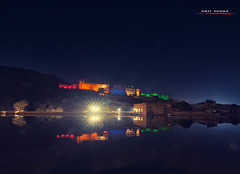 Amber Fort (aavee77) Tags: city night cityscape nightlights view fort jaipur av amer amberfort nahargarh
