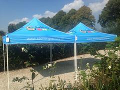 Quick Folding Tent  - bedrukte tent voor goed doel