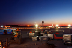 Soft nights in Pulkovo (mamin_den) Tags: sky bird night plane airport warm long exposure cityscape russia petersburg spotting piter