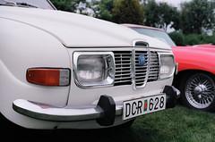 (<mmb>) Tags: auto white film car analog 35mm automobile minolta kodak newbrunswick saab 96 x700 ektar ektar100