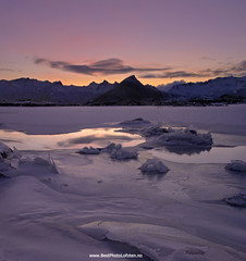 Pure nature (June Grnseth EFIAP PPSA) Tags: mountains reflection ice clouds frozen lofoten arcticwinter purpledaylight bestphotolofoten bllngen junegrnseth