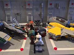 LEGO® Star Wars: Interceptor Starfighter Hangar - 08 (jm_aalen) Tags: star republic space hangar cockpit battle widget spaceship wars gunship interceptor moc starfighter actis greebles eta2 lego® afollu nurbies