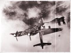"1:72 Messerschmitt Me 205 A-1 'Wirbelwind'; aircraft ""12+I White"" of VII./JG1; Leeuwarden/Netherlands, mid 1943 (Whif/Bf 109 Kitbashing)"