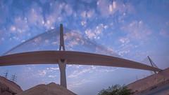 Hanging Bridge (sidd_photography) Tags: city bridge sky panorama clouds photos