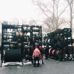 "installing ""Tatiana Trouv: Desire Lines"" (Public Art Fund) Tags: nyc art centralpark publicart desirelines publicartfund tatianatrouv"