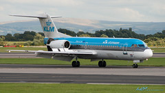 PH-JCH Fokker 70 KLM Cityhopper (kw2p) Tags: canon aircraft manchesterairport fokker egcc fokker70 canoneos400ddigital phjch kennywilliamson egccman cn11528 kw2p