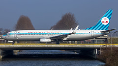 """KLM retro 737 • <a style=""""font-size:0.8em;"""" href=""""http://www.flickr.com/photos/125767964@N08/16580530828/"""" target=""""_blank"""">View on Flickr</a>"""