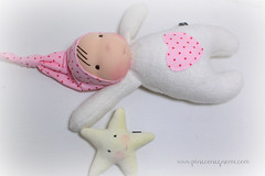 Sleepy Gnome Pink Heart and Star Friend (The Pine Cone Gnome) Tags: baby wool hat alaska pine star gnome friend doll soft natural cone sleep waldorf juneau shannon cotton cuddle organic morgan sherpa steiner