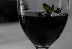 The ability of a camera to capture your feelings (shivalinimishabhatt) Tags: monochrome rouge strawberry focus wine sunk greentint fiftyshadesofgrey