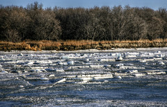 Winter Break Up (Cindy's Here) Tags: canada ice canon manitoba redriver riverbank selkirk winterbreakup