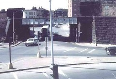 Jackson-Square - Jamaica Plain MA - Centre St Bridge c1960