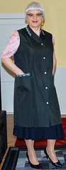 Ingrid018923 (ingrid_bach61) Tags: large skirt blouse mature button collar bluse pleated kittel nylonoverall faltenrock durchgeknöpft