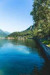 Monte Isola (Nicola Pezzoli) Tags: travel blue summer italy lake art tourism water colors canon reflections island design piers floating monte bergamo brescia lombardia isola iseo