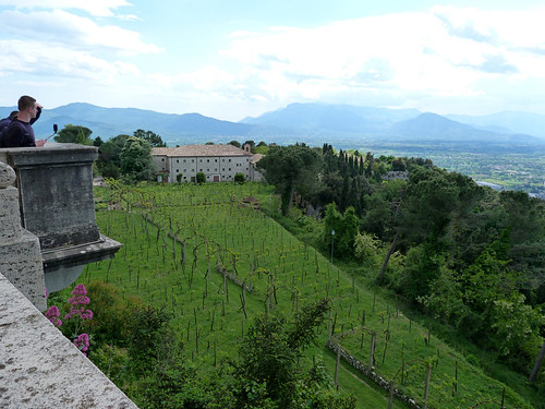 Monte Cassino - the abbey, view from the portico