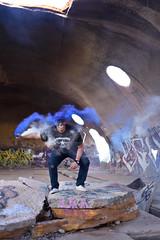 White+Blue (JLandau Photography) Tags: tucson arizona casagrande domes smoke mask milkyway longexpo steelwool steel wool night photography orb long exposure portrait stars