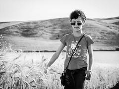 Summertime ! (AnouarDZ) Tags: summer sepia 50mm child ride noiretblanc olympus f2 enfant zuiko omd m43 omdem1