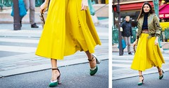 The Heel Trend That's Coming Back in the Fashion World (contfeed) Tags: pumps styling pairs neutral colored listers fashion flashier wearing pastel alba