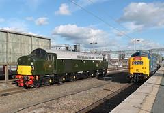 D9009 + D213 0Z56 (Neil Altyfan - Railway Photography) Tags: d9009 alycidon d213 andania 0z56 grosmont nymr crewegrestybridge drs crewe 050716