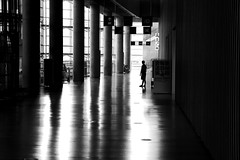 In front of the exhibitions (pascalcolin1) Tags: tokyo nationalartcenter expositions exhibitions ombre shadow lumire light colonnes columns photoderue streetview urbanarte noiretblanc blackandwhite photopascalcolin